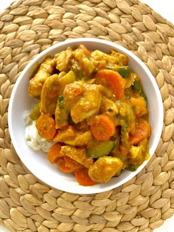 Curry de pollo con verduras para comprar online sin gluten sin lácteos