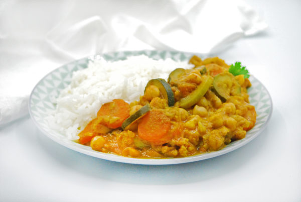 Curry de verduras con garbanzos realfood vegetariano vegano