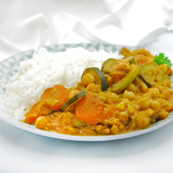 Curry de verduras con garbanzos realfood vegetariano vegano