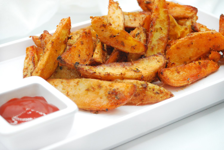 Patatas deluxe sabrosas con salsa