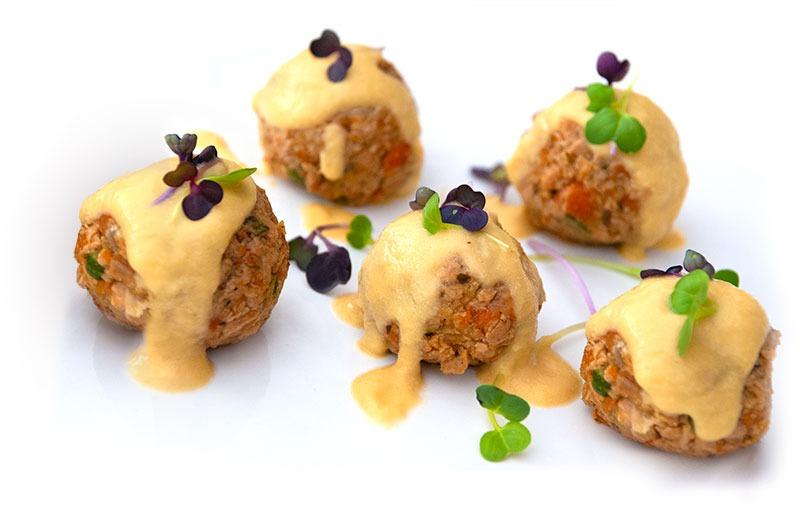 Albóndigas vegetarianas menú eventos mallorca