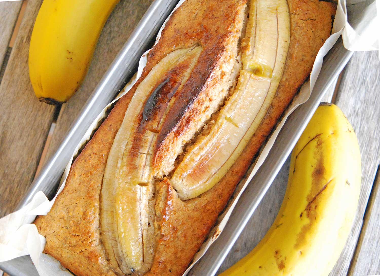 Receta pan de plátano saludable