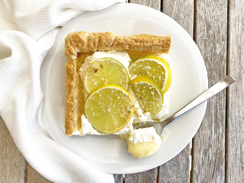 Receta hojaldre de lima limón