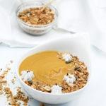 Receta crema de boniato y coco con granola crujioente salada