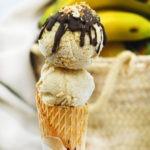 Helado saludable de plátano y cúrcuma