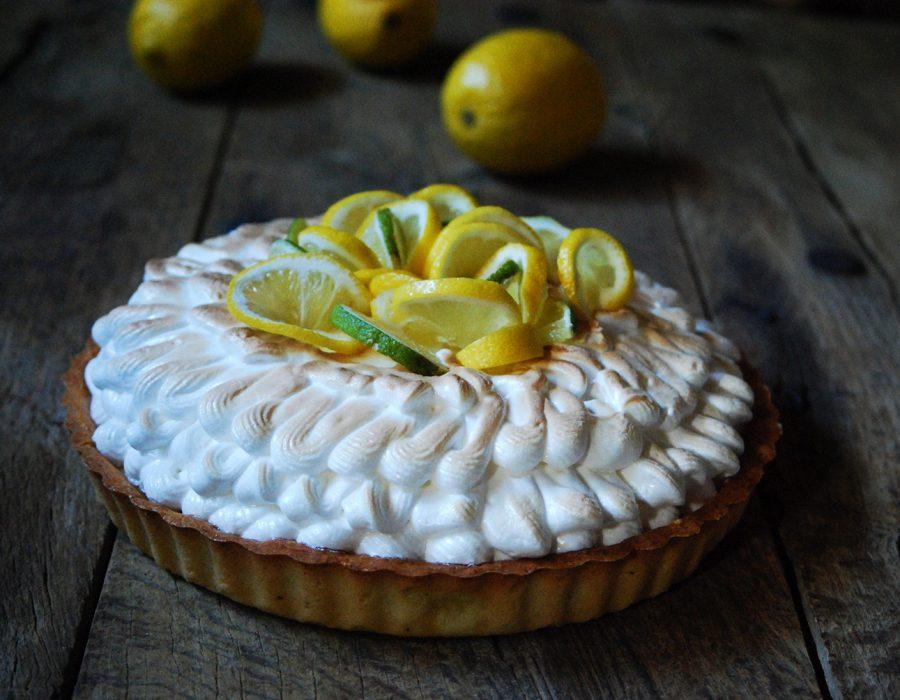 Receta tarta de lima limón con merengue. Espectacular